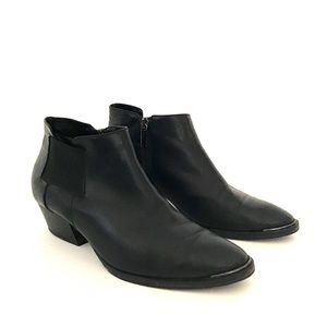 AQUATALIA LEATHER ANKLE BOOTS SIZE 8.5 ITALY